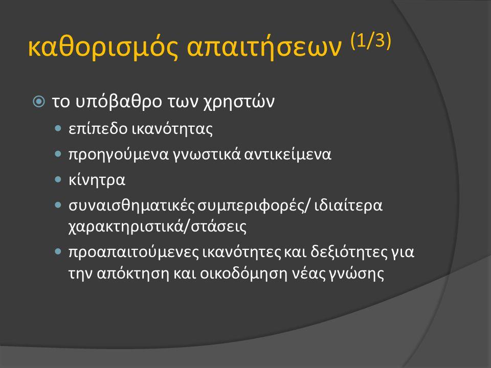 καθορισμός απαιτήσεων (1/3)
