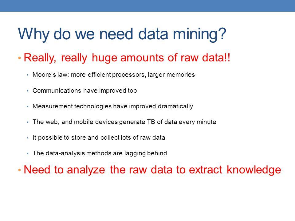 Why do we need data mining