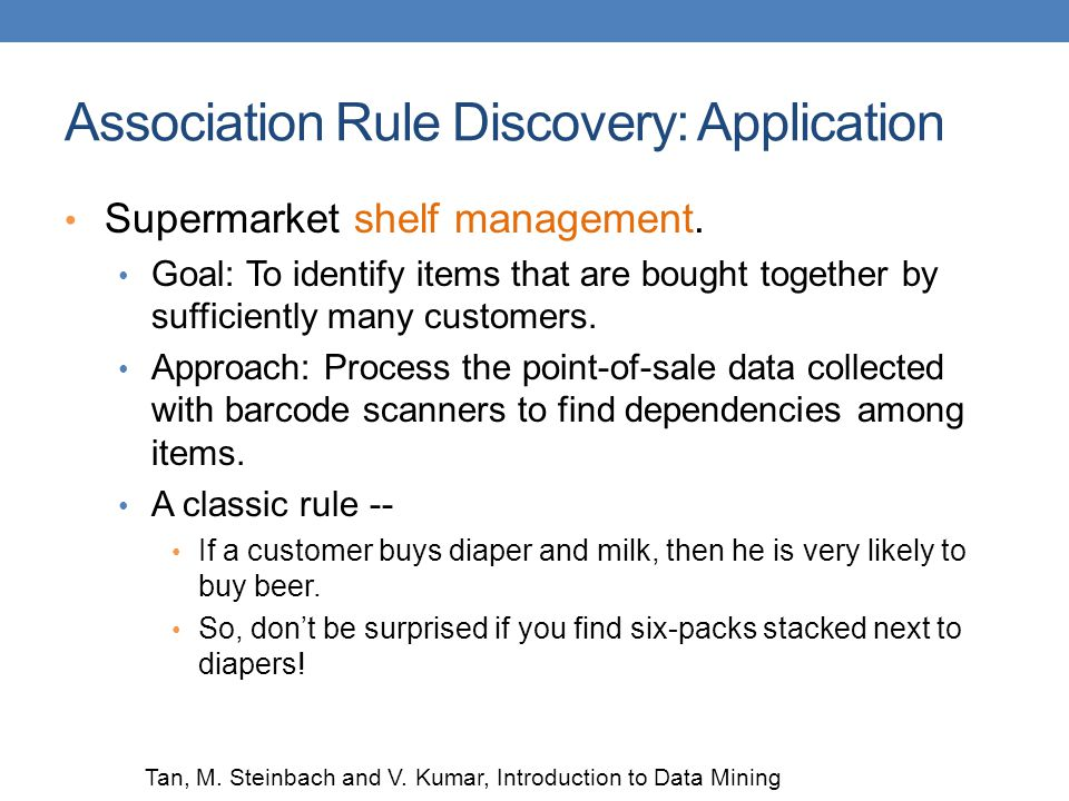 Association Rule Discovery: Application