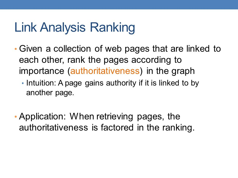 Link Analysis Ranking