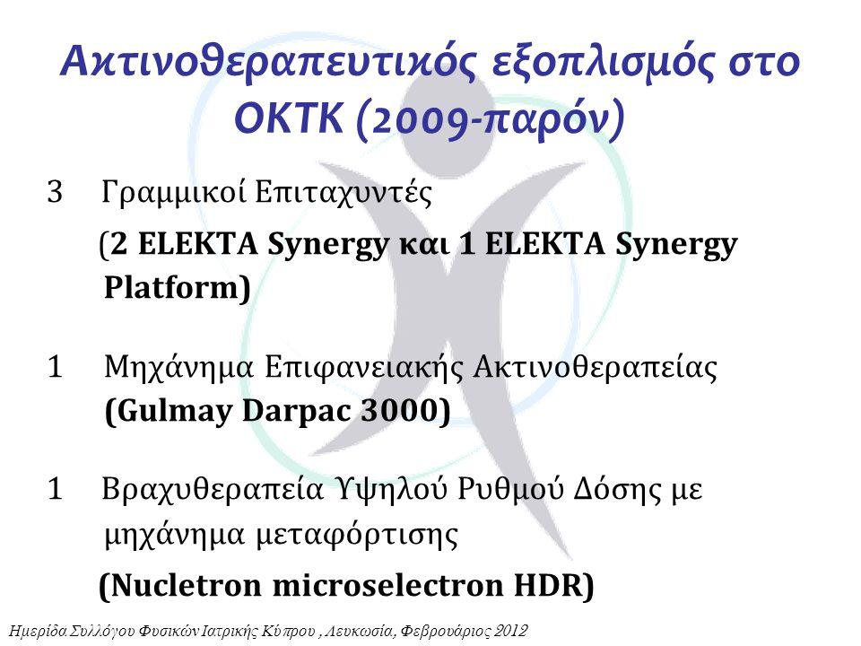 Ακτινοθεραπευτικός εξοπλισμός στο ΟΚΤΚ (2009-παρόν)