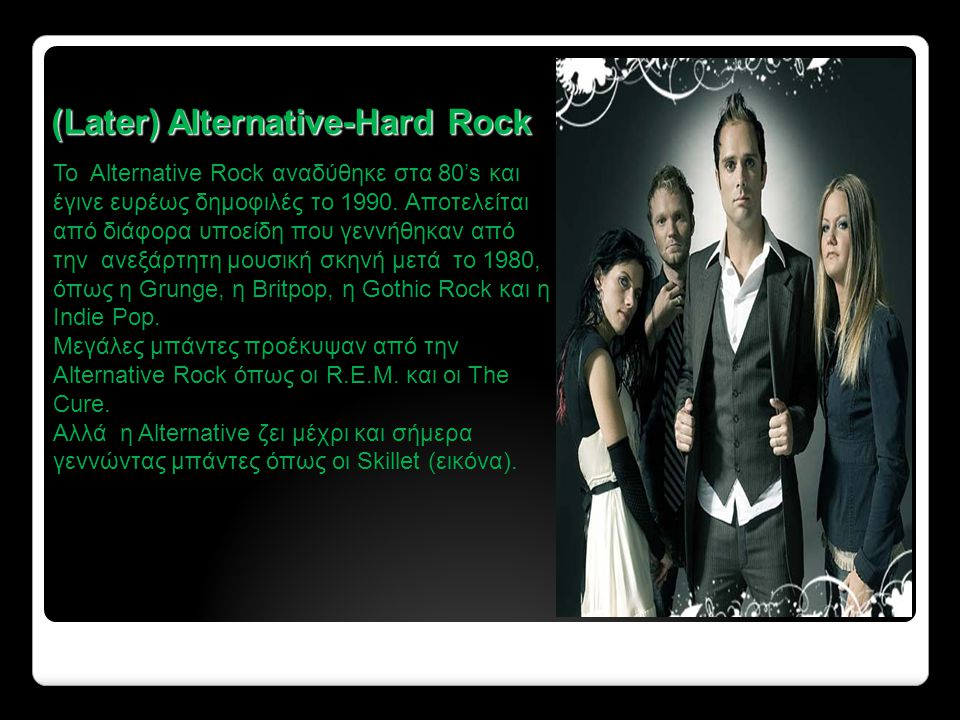 (Later) Alternative-Hard Rock