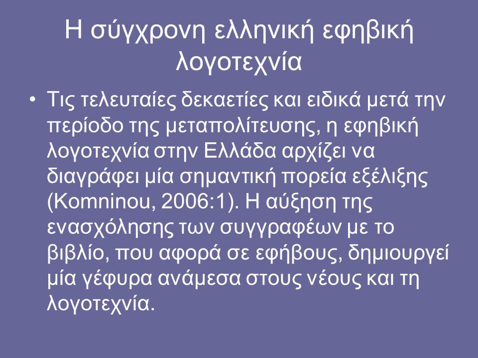 Η σύγχρονη ελληνική εφηβική λογοτεχνία