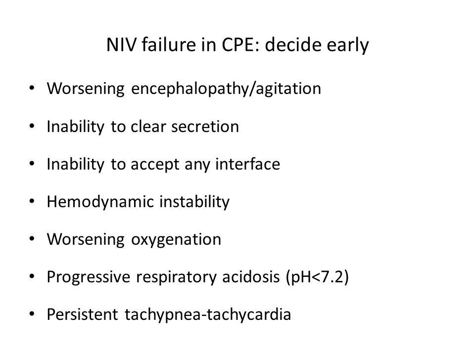 NIV failure in CPE: decide early