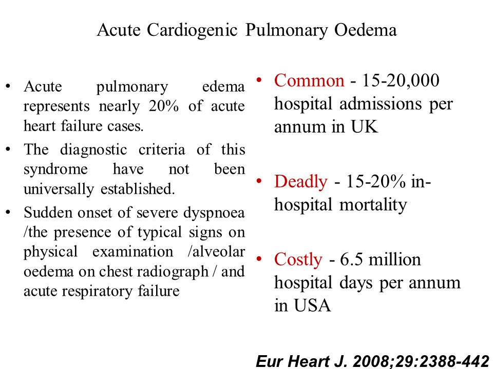 Acute Cardiogenic Pulmonary Oedema