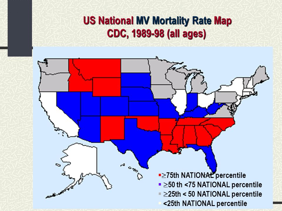 US National MV Mortality Rate Map