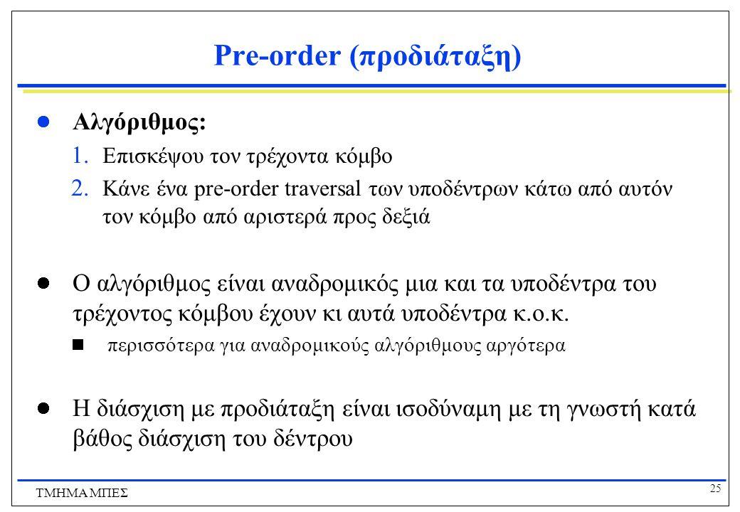 Pre-order (προδιάταξη)