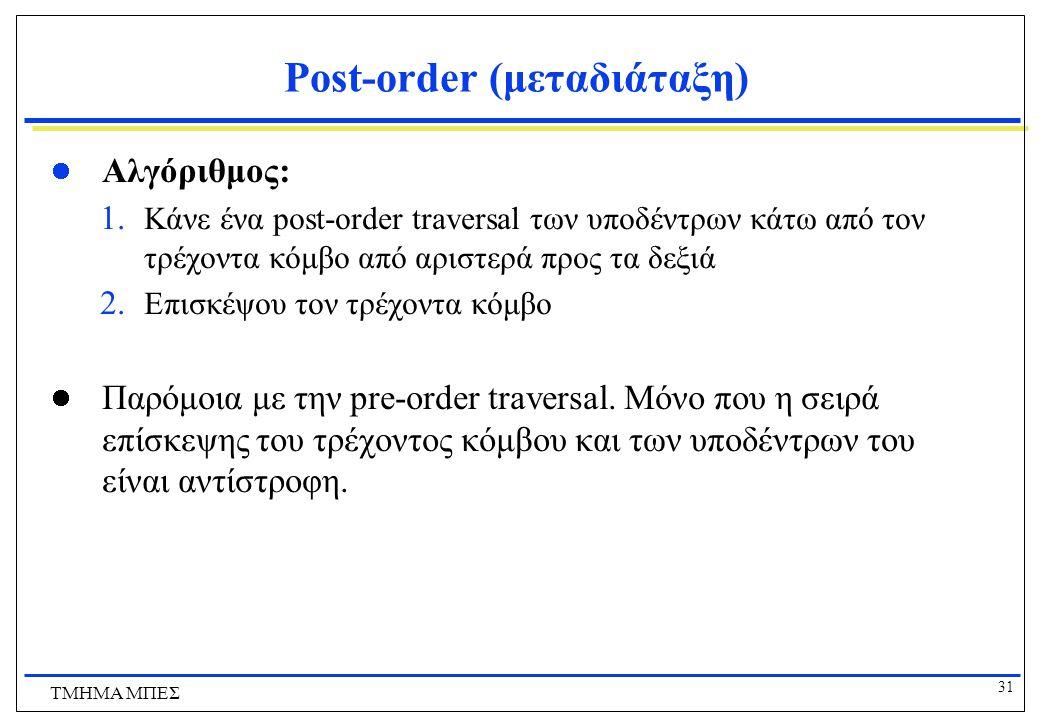 Post-order (μεταδιάταξη)