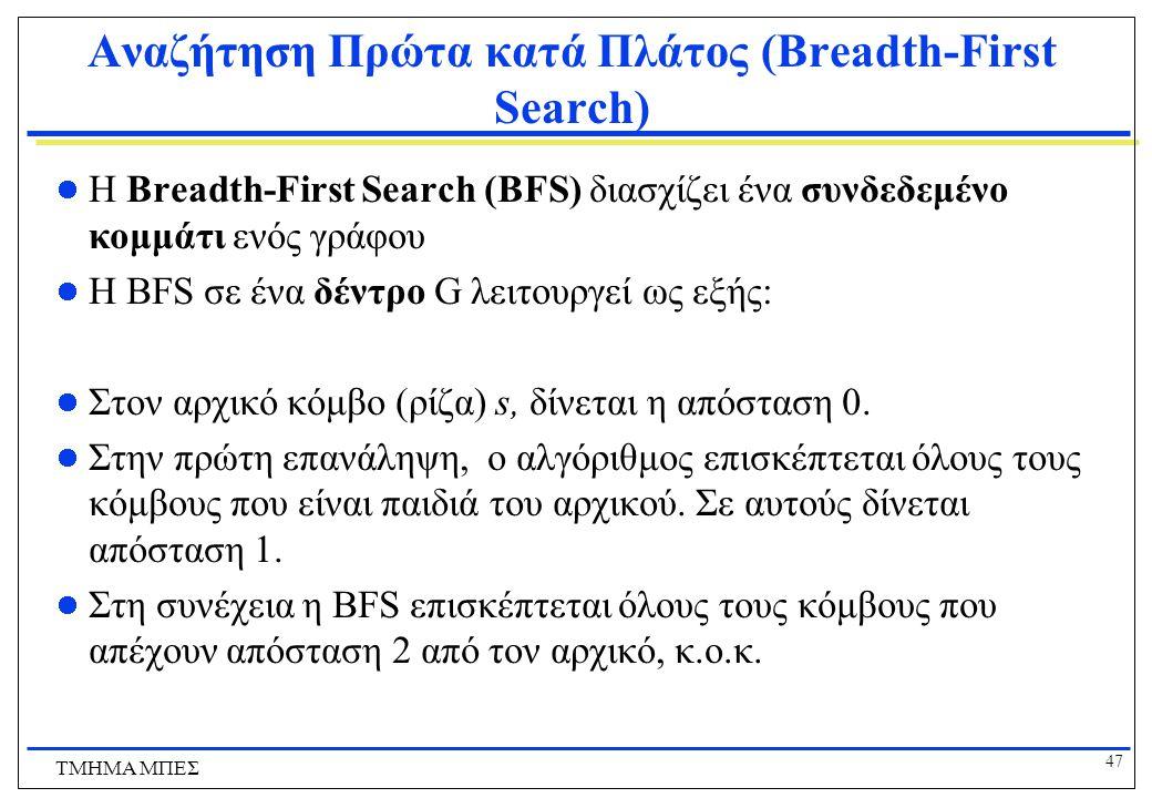 Αναζήτηση Πρώτα κατά Πλάτος (Breadth-First Search)