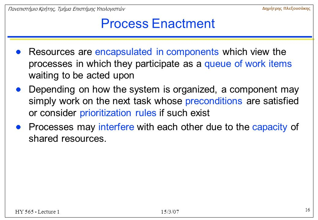 Process Enactment