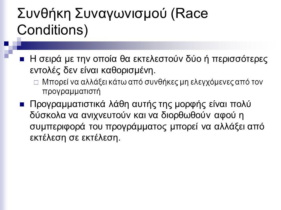 Συνθήκη Συναγωνισμού (Race Conditions)