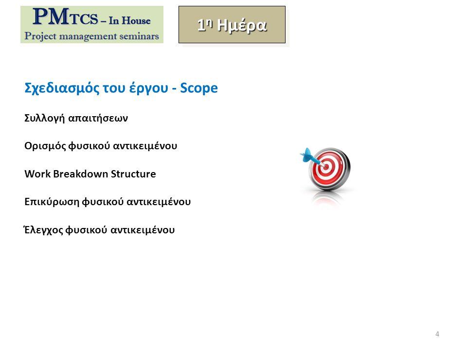 1η Ημέρα Σχεδιασμός του έργου - Scope Συλλογή απαιτήσεων