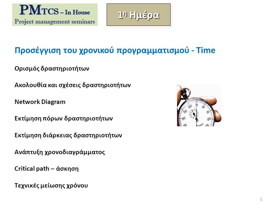 1η Ημέρα Προσέγγιση του χρονικού προγραμματισμού - Time