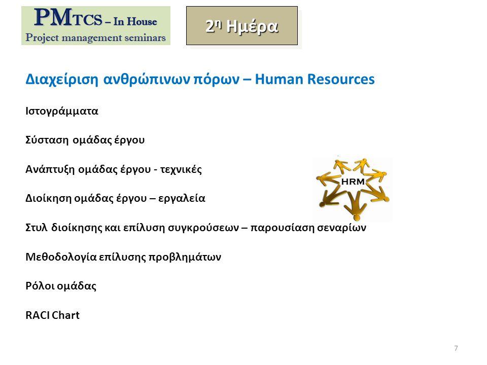 2η Ημέρα Διαχείριση ανθρώπινων πόρων – Human Resources Ιστογράμματα