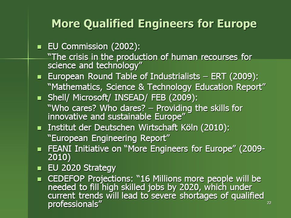 More Qualified Engineers for Europe