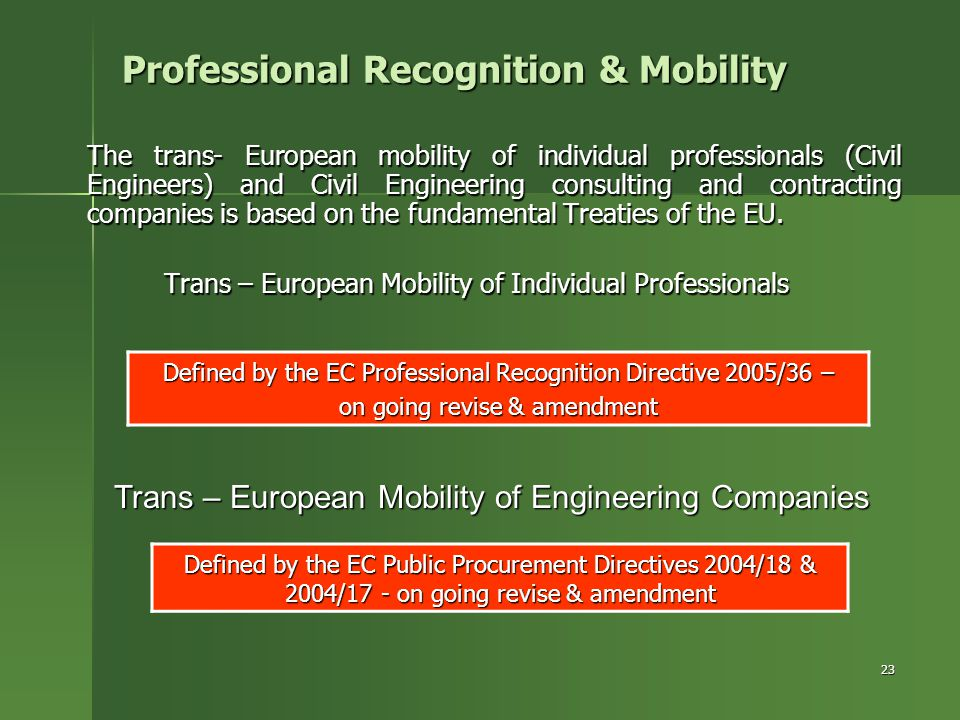Professional Recognition & Mobility