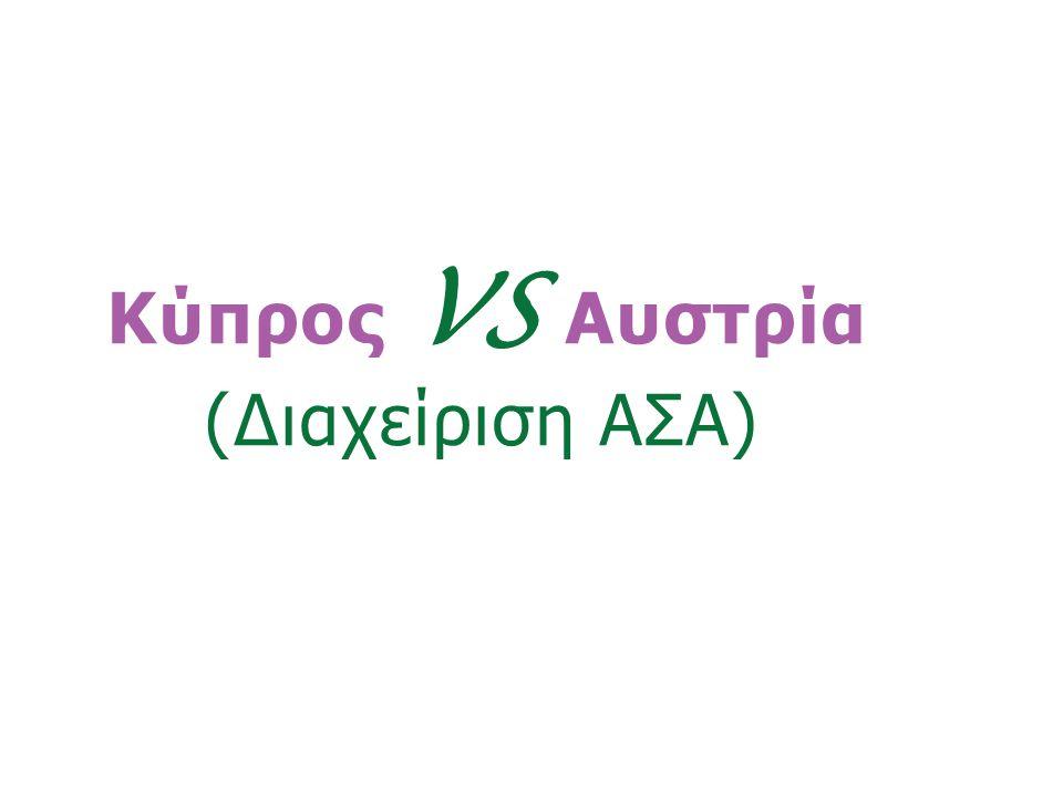 Κύπρος VS Αυστρία (Διαχείριση ΑΣΑ)