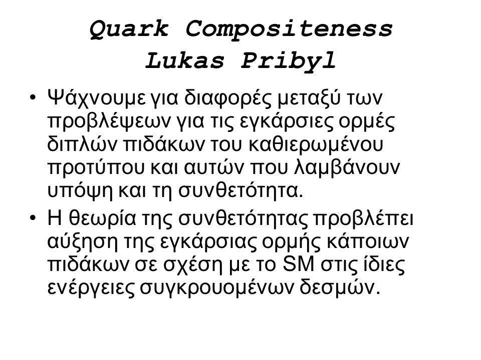 Quark Compositeness Lukas Pribyl