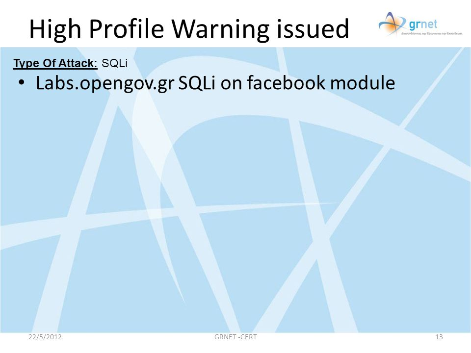 High Profile Warning issued