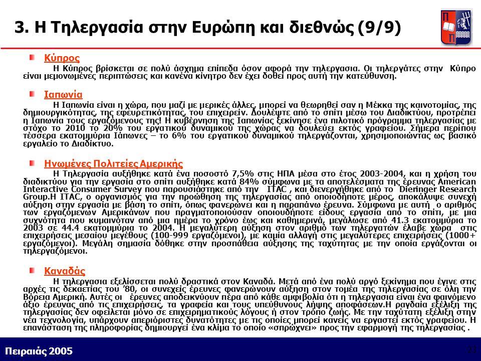 3. Η Τηλεργασία στην Ευρώπη και διεθνώς (9/9)