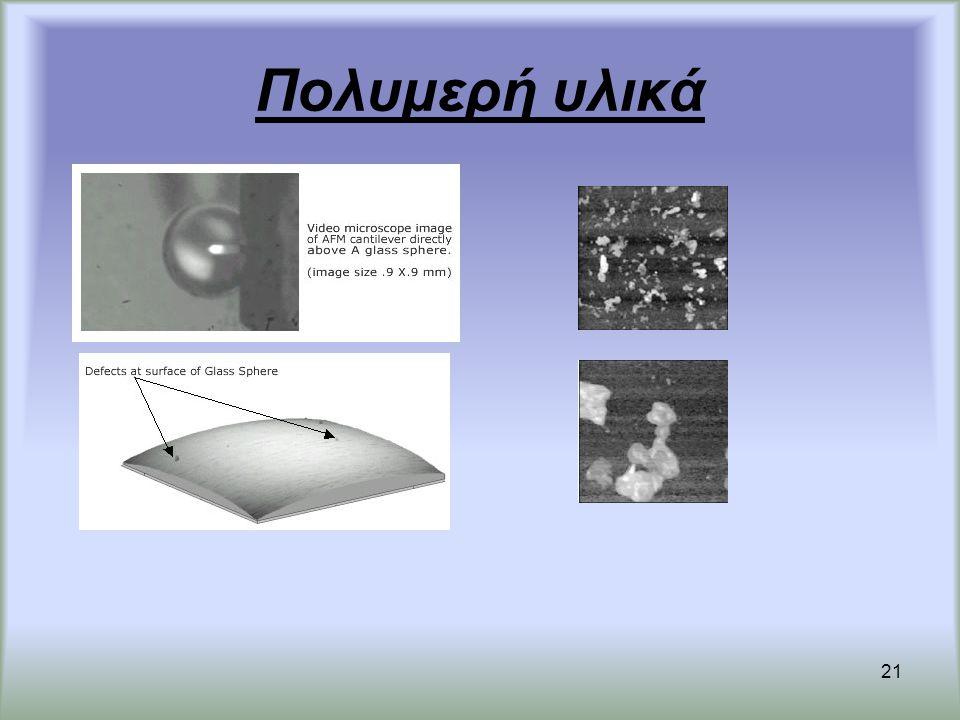 Πολυμερή υλικά Μελετάμε τις ατέλειες στις επιφάνειες