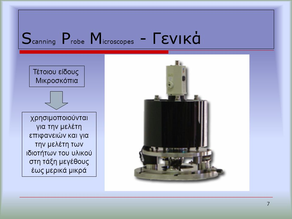 Scanning Probe Microscopes - Γενικά