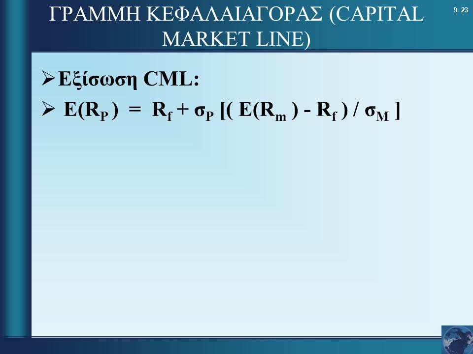 ΓΡΑΜΜΗ ΚΕΦΑΛΑΙΑΓΟΡΑΣ (CAPITAL MARKET LINE)