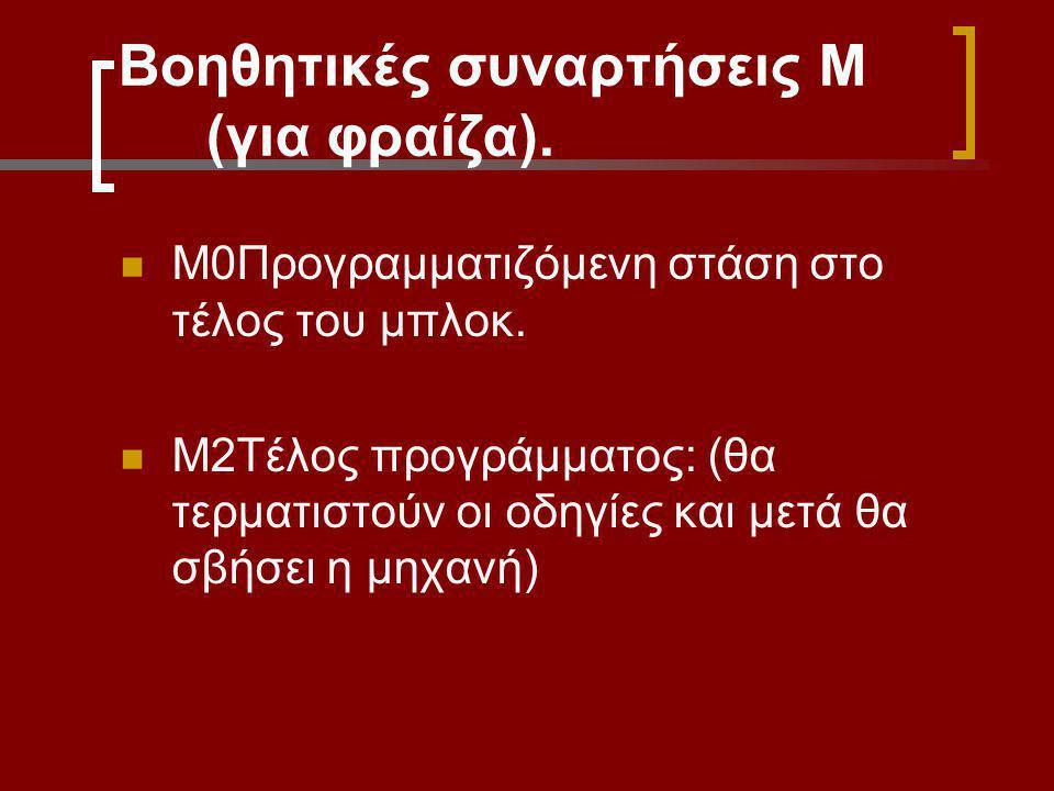 Βοηθητικές συναρτήσεις Μ (για φραίζα).