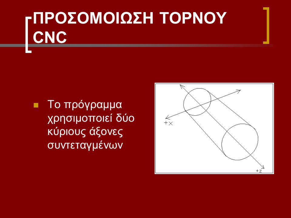 ΠΡΟΣΟΜΟΙΩΣΗ ΤΟΡΝΟΥ CNC