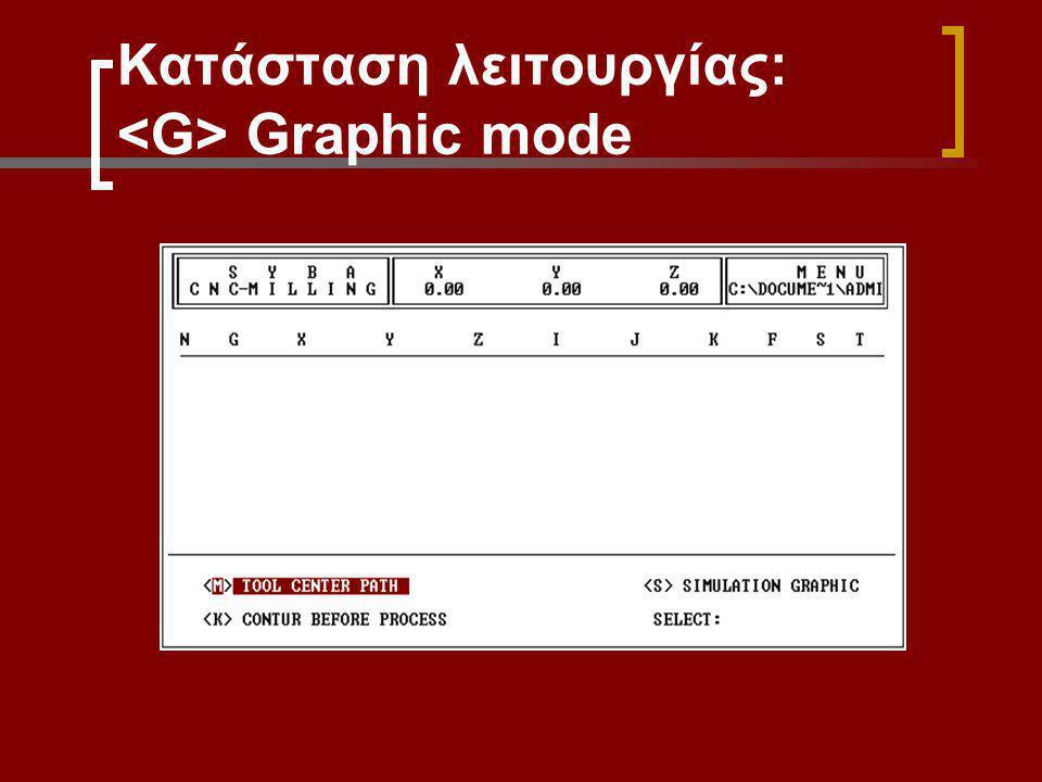 Κατάσταση λειτουργίας: <G> Graphic mode