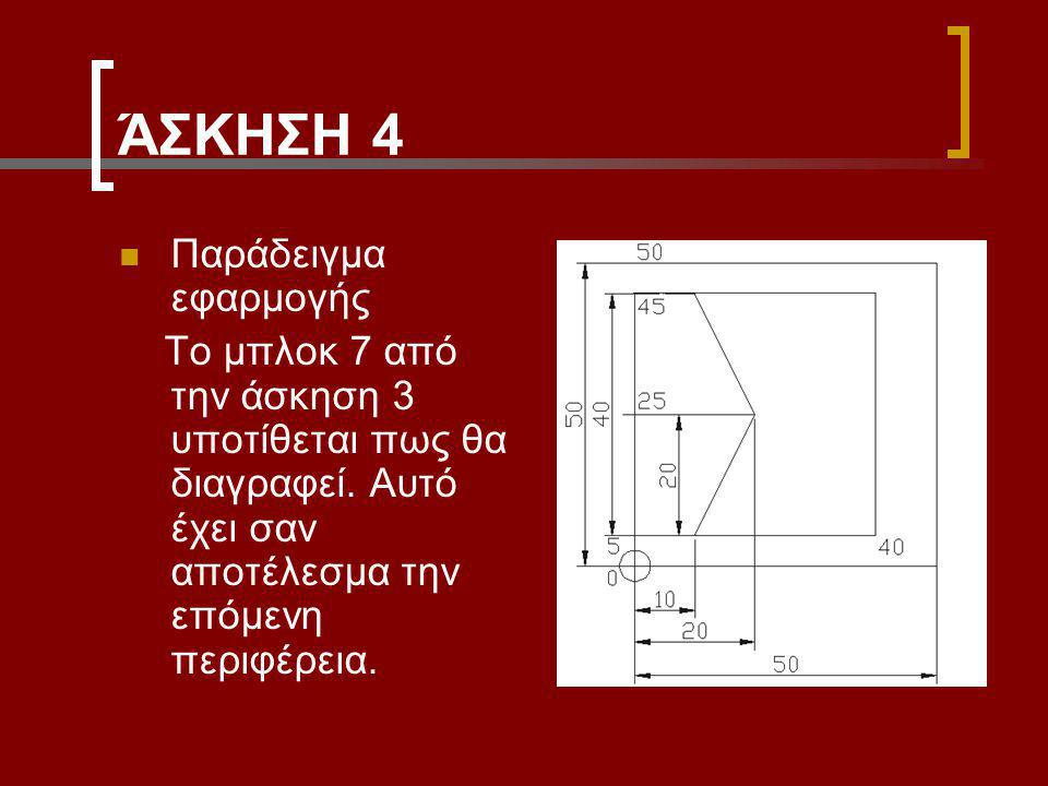 ΆΣΚΗΣΗ 4 Παράδειγμα εφαρμογής