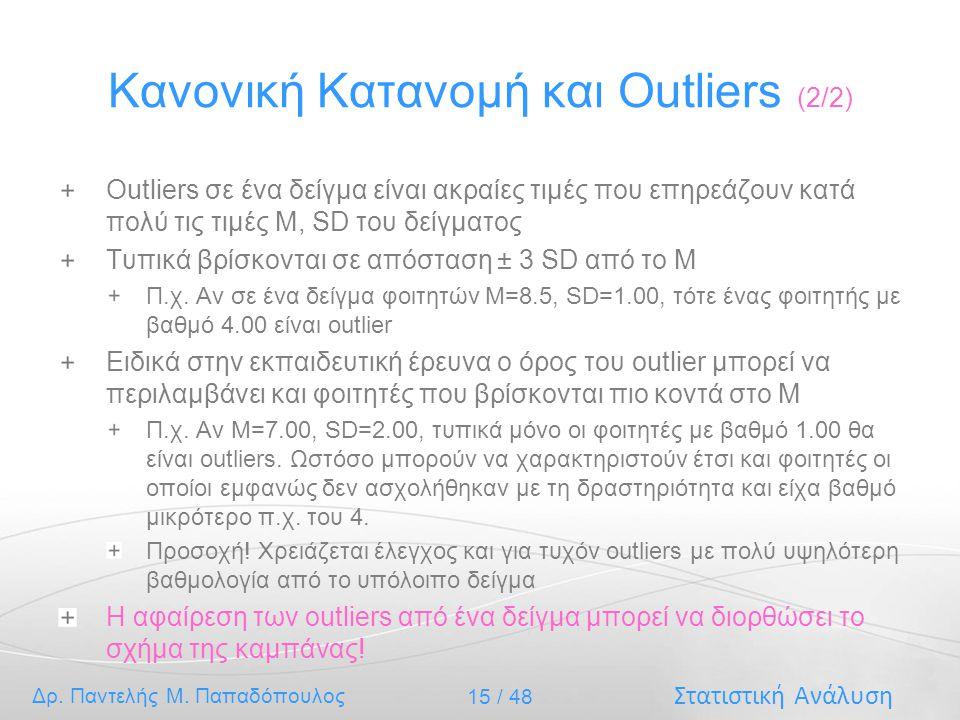 Κανονική Κατανομή και Outliers (2/2)