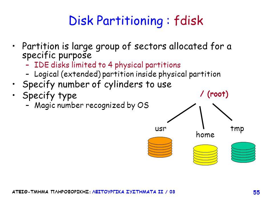 Disk Partitioning : fdisk