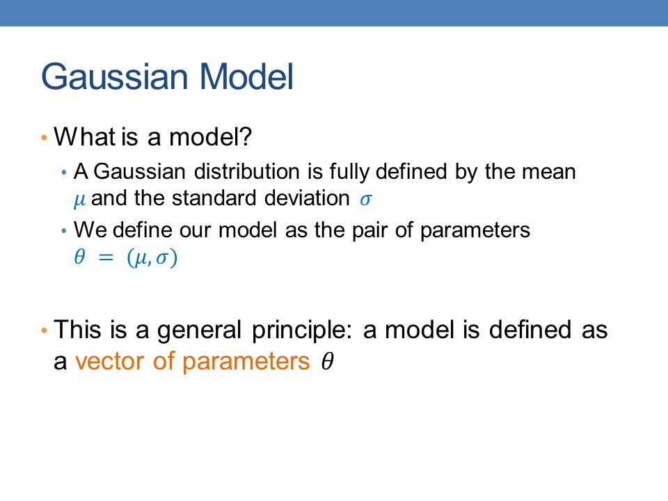 Gaussian Model What is a model