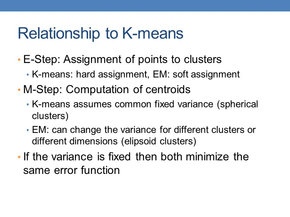 Relationship to K-means