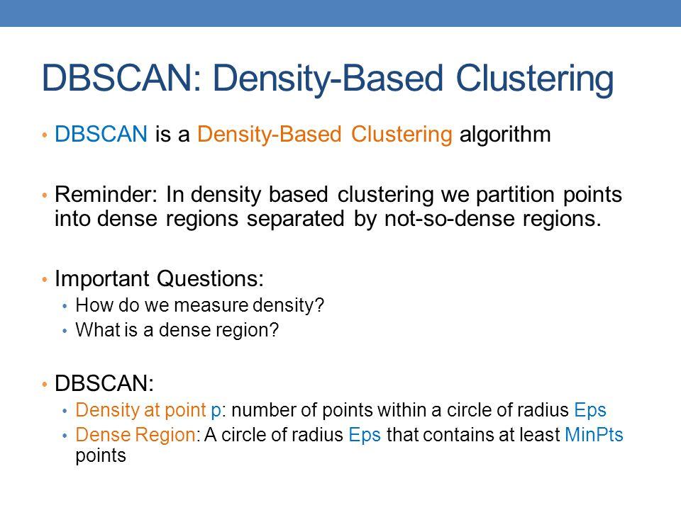 DBSCAN: Density-Based Clustering