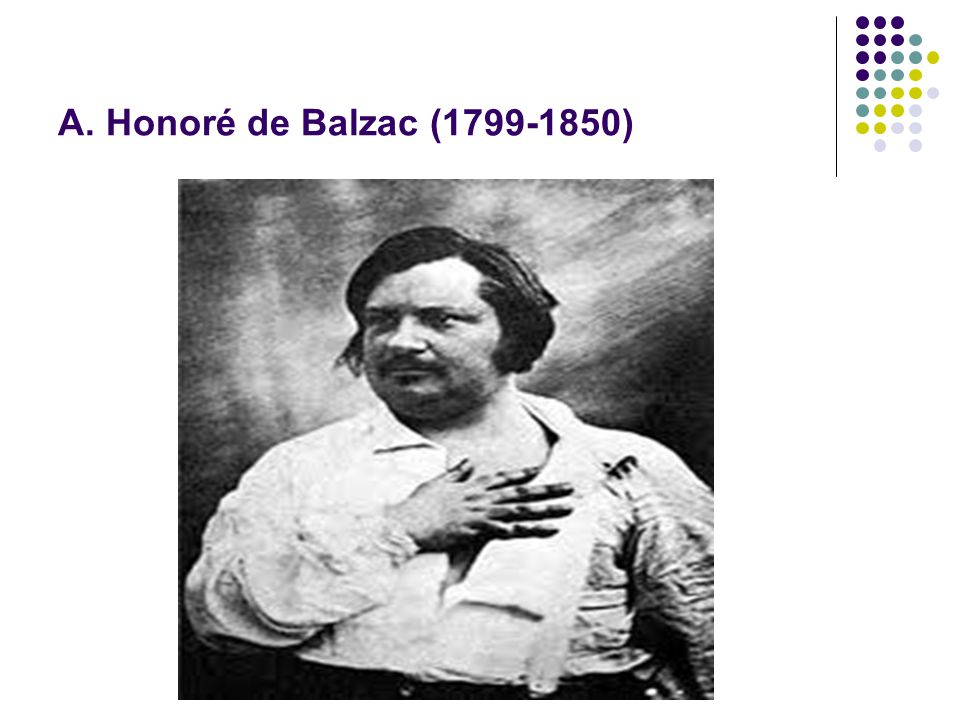 Α. Honoré de Balzac (1799-1850)