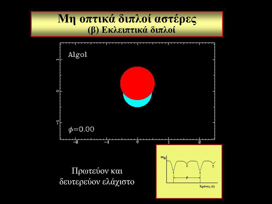 Μη οπτικά διπλοί αστέρες (β) Εκλειπτικά διπλοί