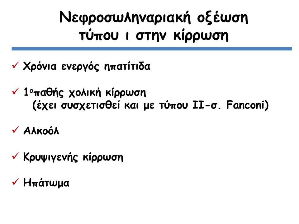 Νεφροσωληναριακή οξέωση τύπου ι στην κίρρωση