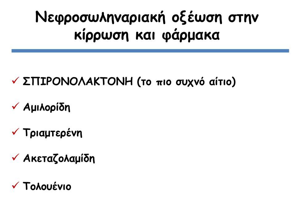 Νεφροσωληναριακή οξέωση στην κίρρωση και φάρμακα