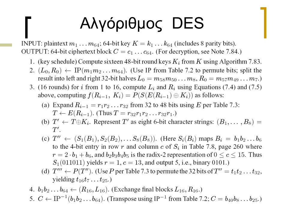 Αλγόριθμος DES
