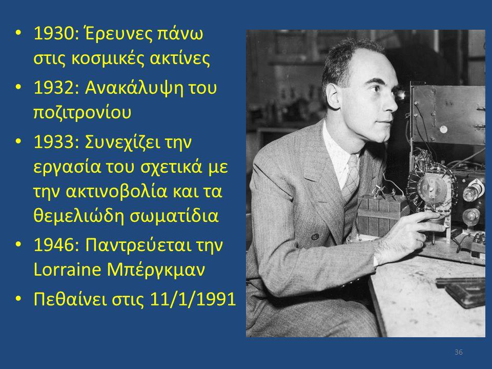 1930: Έρευνες πάνω στις κοσμικές ακτίνες