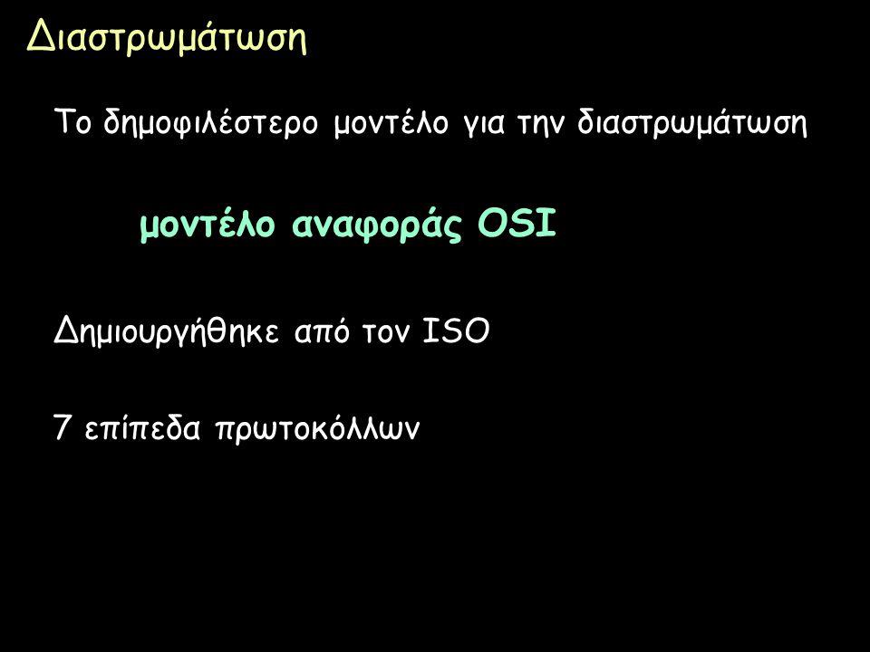 Διαστρωμάτωση μοντέλο αναφοράς OSI