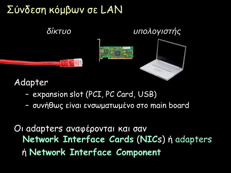 Σύνδεση κόμβων σε LAN Adapter