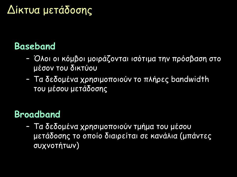 Δίκτυα μετάδοσης Baseband Broadband