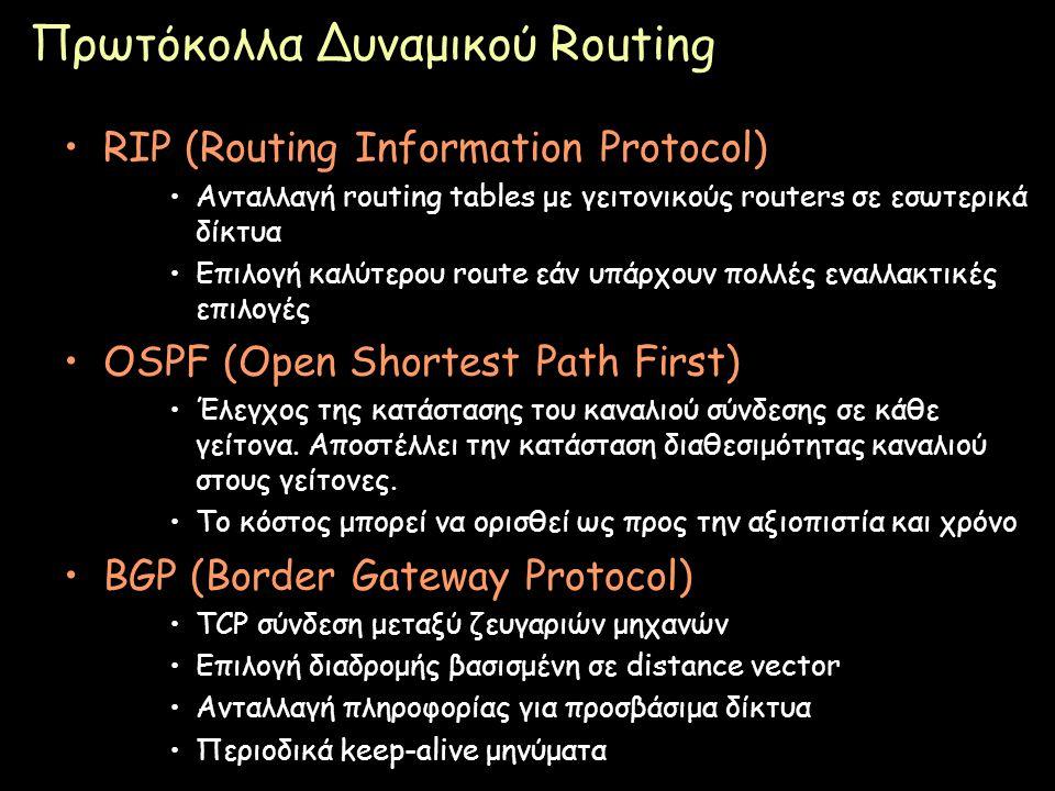 Πρωτόκολλα Δυναμικού Routing