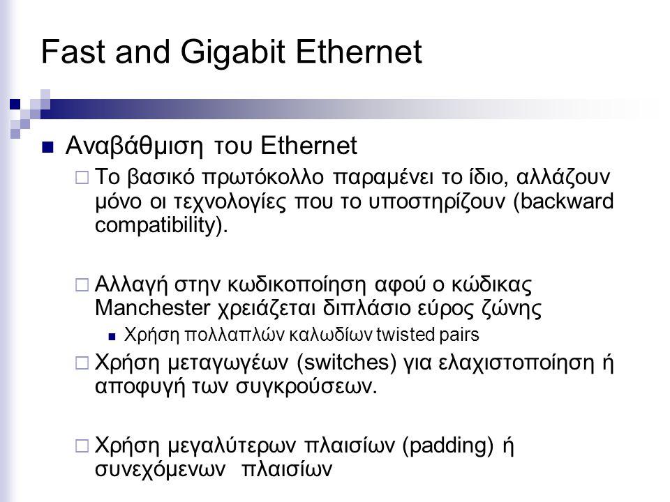 Fast and Gigabit Ethernet