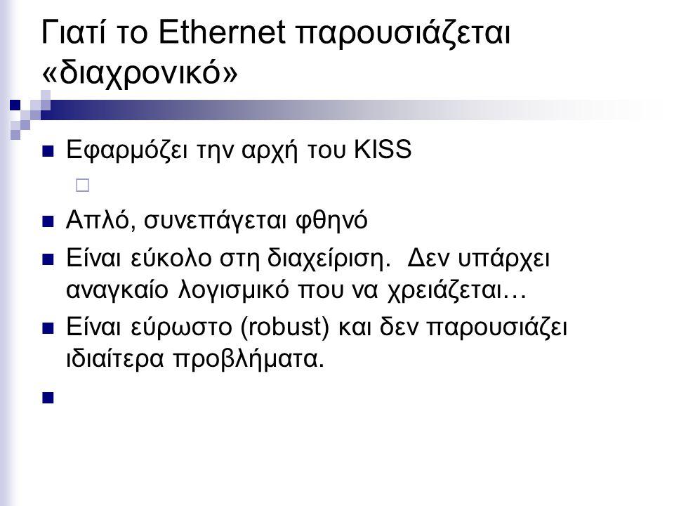Γιατί το Ethernet παρουσιάζεται «διαχρονικό»