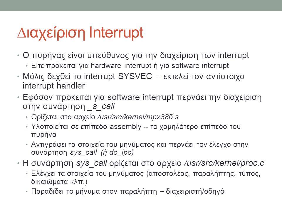 ∆ιαχείριση Interrupt