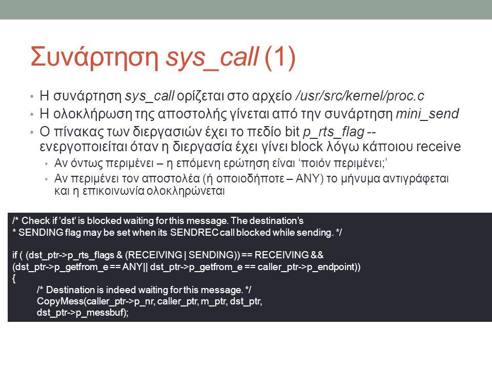 Συνάρτηση sys_call (1)